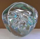 MIND BLOWING Signed EICKHOLT Glass PAPERWEIGHT Color Changing IRIDESCENCE 4.25
