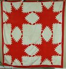 White Feathered Star Antique Quilt!