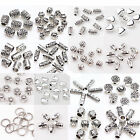 50 100Pcs Tibet Silver Plated Loose Spacer Beads Craft Jewelry Findings DIY