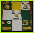 50 4 GREEN BAY PACKERS Cotton Quilt Top Fabric Squares Kit NEW