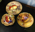 Mixed Lot Artist Signed Hand Painted Cup Saucer Plate Dish