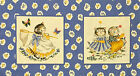 KITTY CUCUMBER Fabric ~ Retired Blue Cat Cats Quilt Blocks END OF BOLT