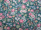 Joan Kessler for Concord House Green Floral Print Cotton NEW Fat Quarter
