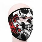1X Motorcycle Skull Neoprene Outdoor Sport  Warm Full Face Mask For Kawasaki 7M