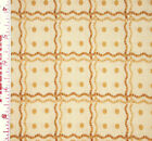 FABRIC 1 Yard MATTERS OF THE HEART Reproduction Cream Squares Kaye England SSI