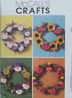 McCalls Crafts Pattern M4989 SEASONAL WREATHS  JF