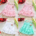 Chiffon Baby Kids Girls Princess Flower Tutu Casual Ruffle Summer Dress 6M 4Y