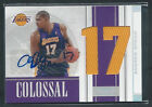Andrew Bynum 2009-10 NATIONAL TREASURES COLOSSAL JUMBO JERSEY AUTO 10 10 SP!!