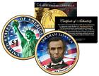 ABRAHAM LINCOLN 2010 Presidential 1 Dollar US Coin COLORIZED Both Sides