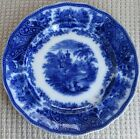 Antique Flow Blue 8 3/4 inch Plate Nonpareil Middleport Pottery England