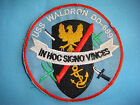 VIETNAM WAR PATCH, US NAVY DESTROYER USS WALDRON DD-699 IN HOC SIGNO VINCES