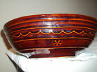 Brown Daisy Dot Marcrest Stoneware 2 Sided Dish