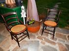 Set of 2 Antique Victorian Cane Bottom Sitting Chairs