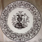 TWO'S COMPANY BROWN TRANSFERWARE WALL DECORATIVE PLATE 9 1/2