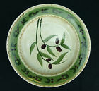 Oliveto Oneida Salad Plate Olives Vines Lines Tan Green Wavy Leaves Hand Painted