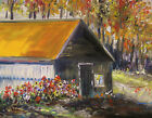 ORIGINAL Farm Landscape OIL  Painting JMW art John Williams Impressionism Barn