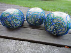 3 Mid/Century Modern Retro LUCITE Spaghetti Plastic Lamp Globes blue green clear