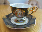 SHAFFORD, HAND DECORATED CUP AND SAUCER SET.