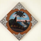 Vintage Art Deco Butterfly Wing Picture. Rio Brazil. Beautiful Wood Pewter Frame