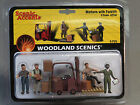 WOODLAND SCENICS WORKERS FORKLIFT o gauge train figures freight people WDS2744