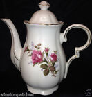 ROYAL SEALY JAPAN MOSS ROSE COFFEE POT NO LID PINK ROSES GOLD TRIM