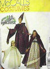 McCalls 8937 Costume Renaissance Cape Gown Hat Adult Small Uncut Sewing Pattern