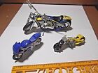LOT OF 3 ASSORTED DIE CAST & PLASTIC MOTORCYCLES HOT WHEELS, ORANGE CO. CHOPPERS