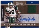 2010 Classics Curtis Martin Auto Autograph Game Used Jersey JETS # 20