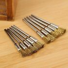 10Pcs 5mm Brass Wire Pencil Brushes Polishing Shank Tool for Power Die Grinder