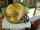 Arnold Tucker signed Army Black Knights helmet Corps