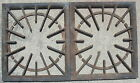 Vtg Cast Iron Wood Burning Stove Oven Grates Top Starburst Metal Heavy 135 Old