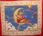 Bear on Moon Sweet Dreams Nitey-night pre-quilted baby panel fabric