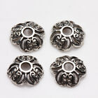 100Pcs Tibet Silver Vintage Hollow Plated Alloy Metal Spacer Bead Caps DIY 8mm