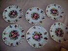 antique porcelain fruit plates hand painted flowers  set of 6 early 19th cent
