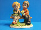 Vintage Ceramic Boy and Girl Figurine Hummel-Like Korea