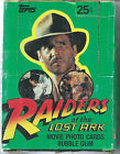 1981 RAIDERS OF THE LOST ARK INDIANA JONES TRADING CARDS BOX 28 UNOPENED PACKS