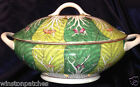 ACF JAPANESE PORCELAIN CABBAGE TUREEN WITH LID & LADLE DECORATED IN HONG KONG