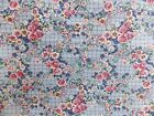 Estate Fabric Vintage Floral Garden Blue Pink French Country Cottage +++ R Quilt