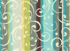 FABRIC 1 Yard REFLECTIONS 22663-turquoise SCROLL STRIPES Gudrun Erla Red Rooster