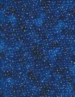 Stars Night Sky on blue Cotton Quilt Fabric Timeless Treasures 1126