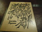 FUCHSIA BOTANICAL GARDEN FLOWERS RUBBER STAMP PSX K 1189 HANGING BLOOMS SKETCH