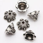 15Pcs Tibet Silver Plated Arch Flower Spacer Bead Caps Jewelry Finding DIY 9x6mm