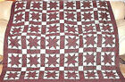 VERY EARLY CIVIL WAR ANTIQUE HAND PIECED STARS QUILT TOP UNUSED 1865