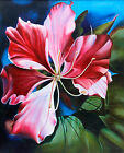Flower Painting Signed Original 'Water Lily' Realist Fine Arts NOVICA India