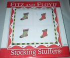 NIP 2007 Fitz And Floyd Stocking Stuffers Christmas Tray With 4 Snack Plates