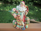 Fitz and Floyd Classics Christmas Santa Teapot / Pitcher Pot Ceramic Holiday
