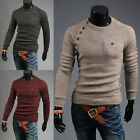 New Men's Slim Fit Pullover Knit Sweater Crew Neck Jacket Coat Long Sleeve Tops