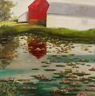 ORIGINAL Barn Landscape Oil Painting JMW art John Williams Realism
