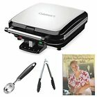 Cuisinart WAF-150 4-Slice Belgian Waffle Maker with Scoop, Tong and Recipe Book