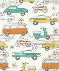 Circa 52 Organic Cotton Fabric JM12 Cars by Monaluna for Birch Fabrics